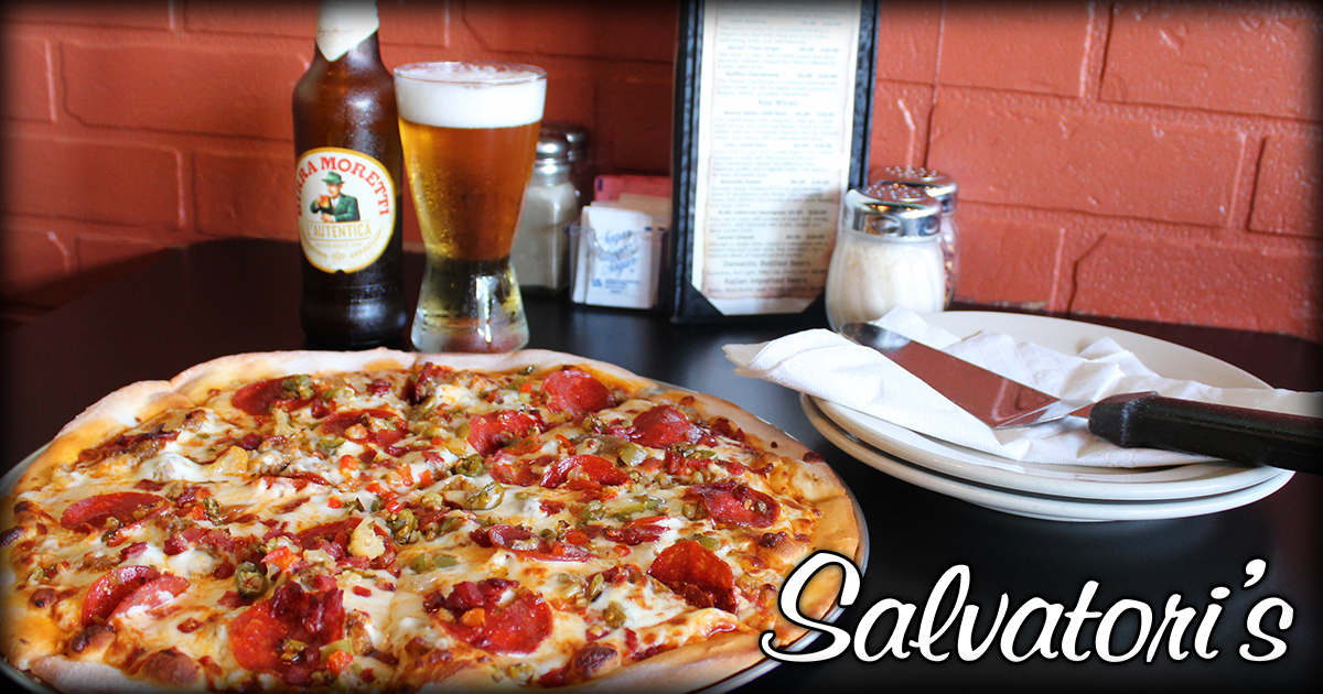 Salvatori's New Haven Featured Pizza - Spicy Three Italian Meat